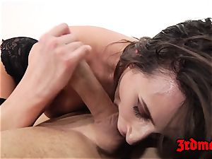 Ashley Adams rectally romped on bed
