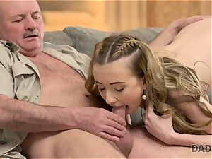 DADDY4K. lovemaking of daddy and youthful nymph finishes with unexpected internal cumshot