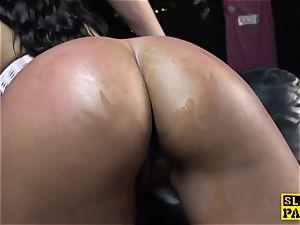 ebony british sub face and pussyfucked