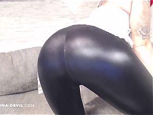 Fetisch Wetlook legging Striptease