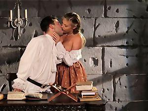 Fairytale babe Samantha Saint gets to poke her prince