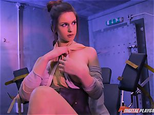 Stella Cox cootchie bashed by a space agent