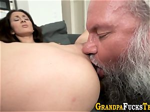 nubile rimmed by aged man