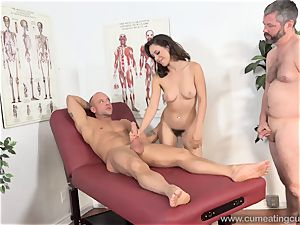 Jade Nile Has Her hubby blow salami and watch Her