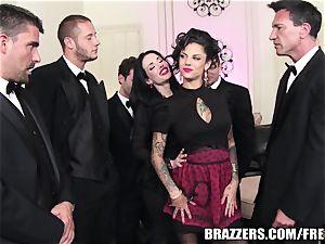 Brazzers - Veronica & Bonnie - 6 boy gang-bang