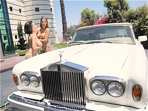 August Ames and Darcie Dolce get their arses bubbly