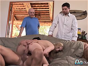 Wife's hubby sees Her ravage a man