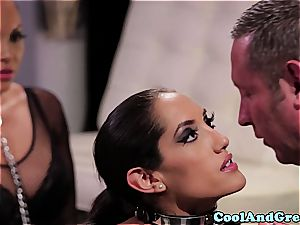awesome Adrianna Luna and Chloe Amour make out after three-way
