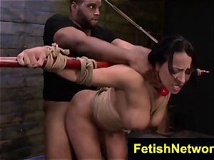 FetishNetwork Becca Diamond wire bondage