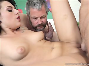 Megan Sages husband strokes little chisel As She Gets penetrated