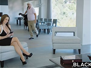 BLACKED super-hot Trophy wifey pummels bbc in husband's couch