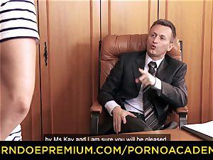 porn ACADEMIE - Lusty secretary assfuck 3 way sex