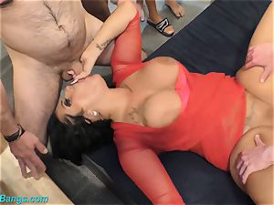 super-fucking-hot gang-fuck with huge-chested Ashley jism starlet