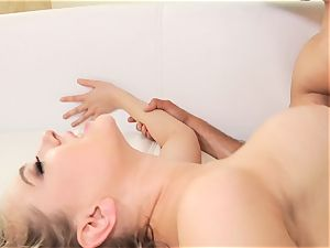 Kagney Linn Karter porked in the booty doggystyle by big greased up manstick