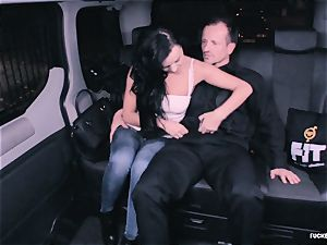 ravaged IN TRAFFIC - crazy Daphne Klyde backseat tear up