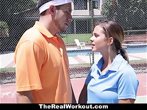 TheRealWorkout Keisha Grey plumbed After playing Tennis