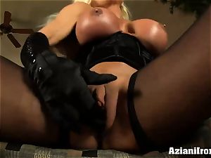 cougar blondie loves frolicking with her massive two inch clittie
