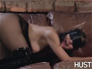 chinese Kendra Spade blindfolded and gonzo facial
