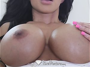 PureMature chesty cougar love buttons Jade tight a-hole poke